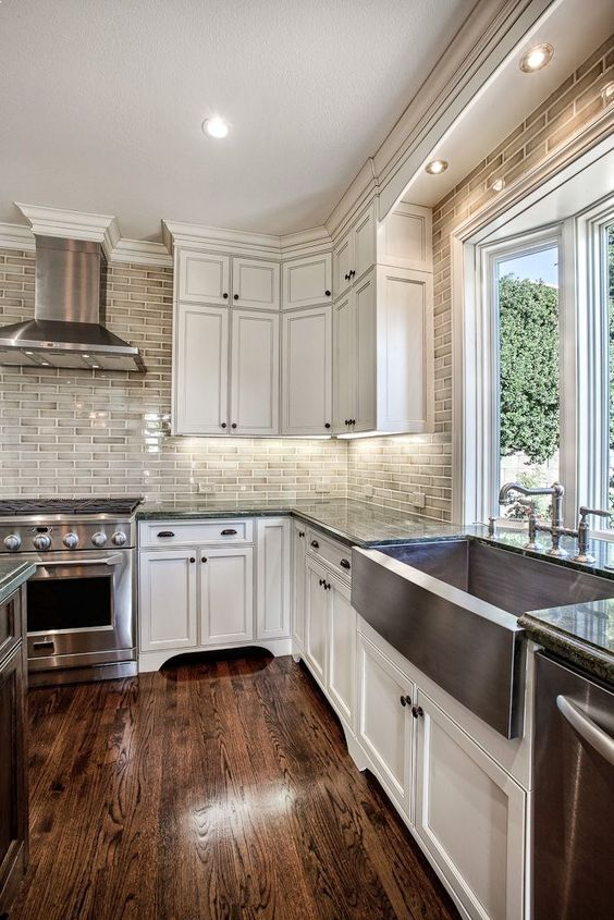 Antique White Kitchen Cabinets Glazed