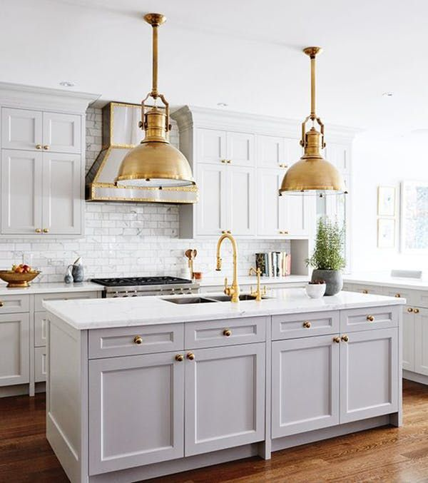 Antique White Kitchen Cabinets With Gold