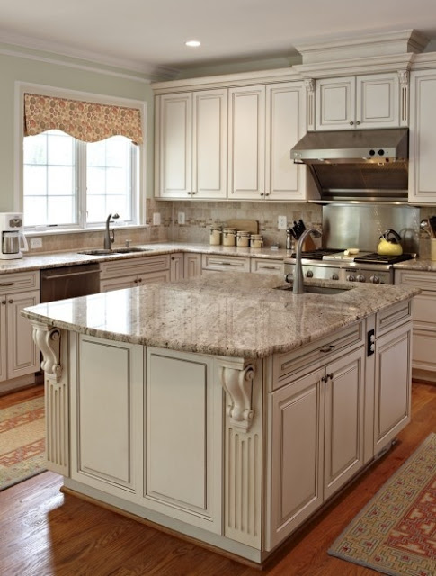 28 antique white kitchen cabinets ideas in 2019 remodel - Kitchen designs with off white cabinets ...