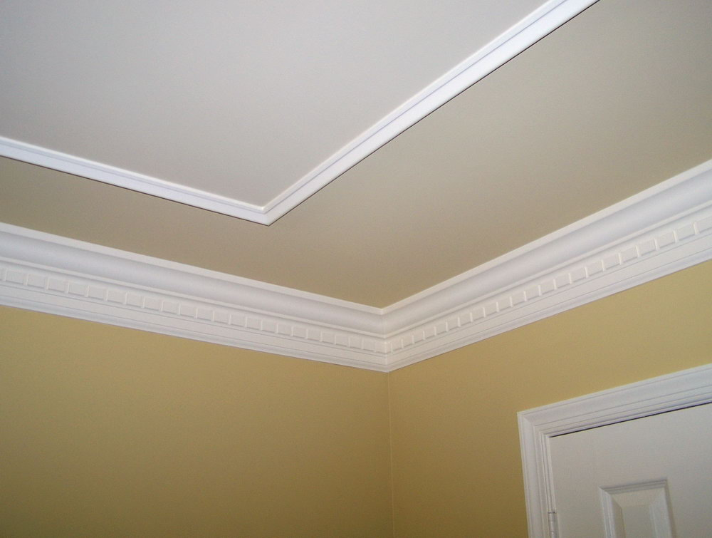 How To Paint A Fake Tray Ceiling Mail Cabinet