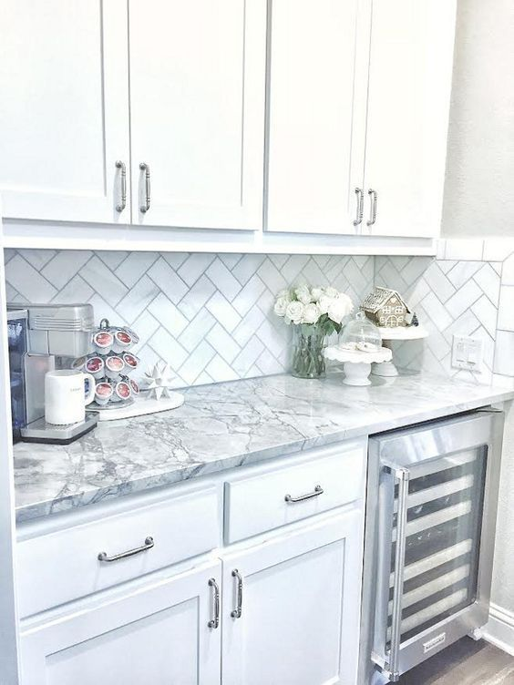 28 Antique White Kitchen Cabinets Ideas in 2019 - Remodel ... on Backsplash Ideas For Black Granite Countertops And White Cabinets  id=90780