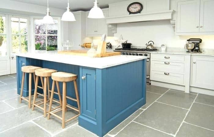 Blue shaker cabinets