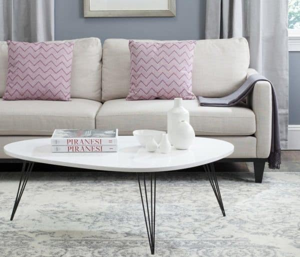 Mid Century Modern Style Coffee Table – Black and White design:
