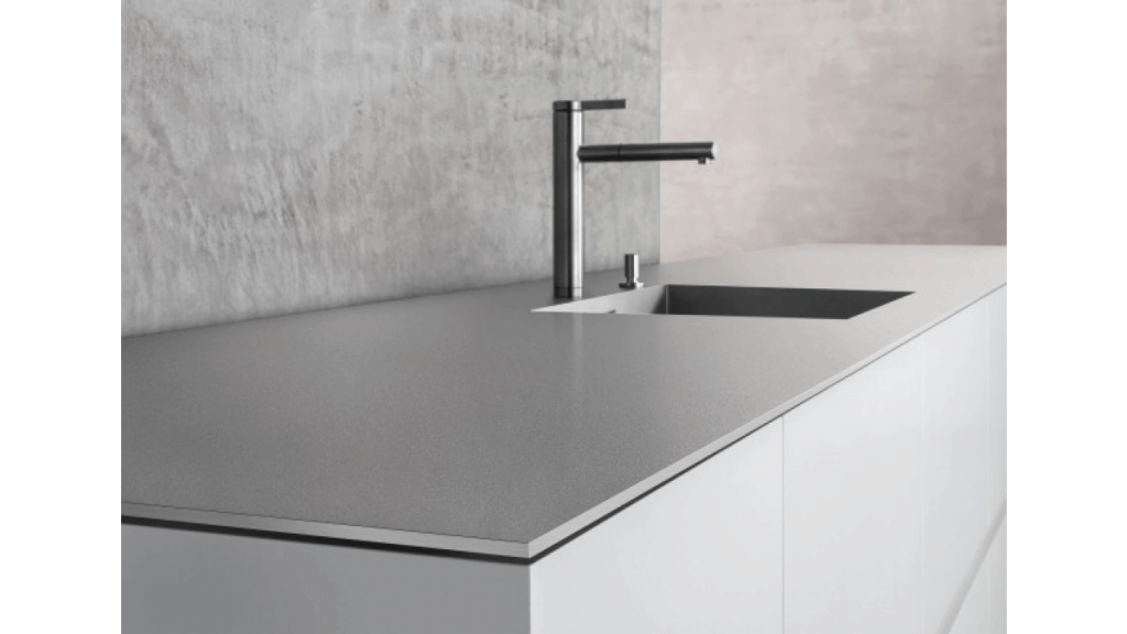 Stainless Steel Countertops with Integrated Sink