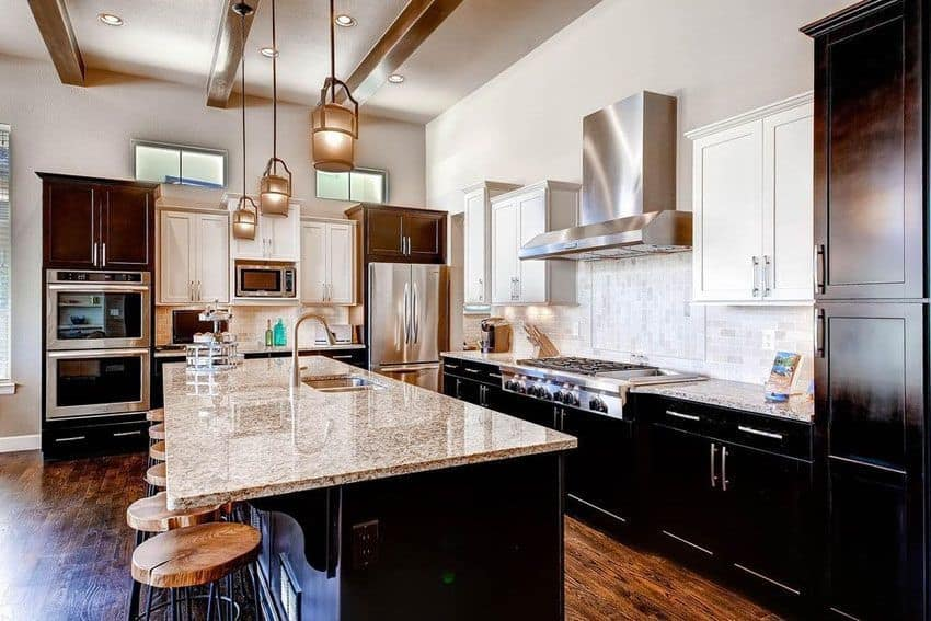 Transitional shaker cabinets