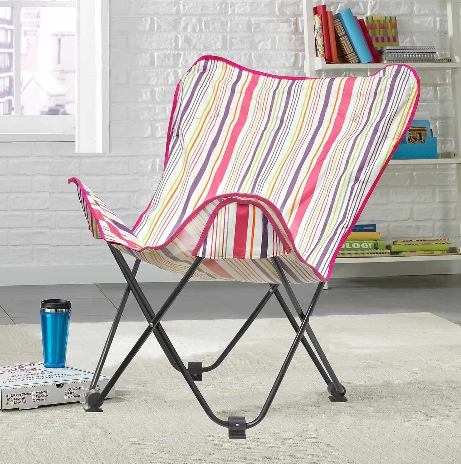 A CABANA STRIPES BUTTERFLY CHAIR