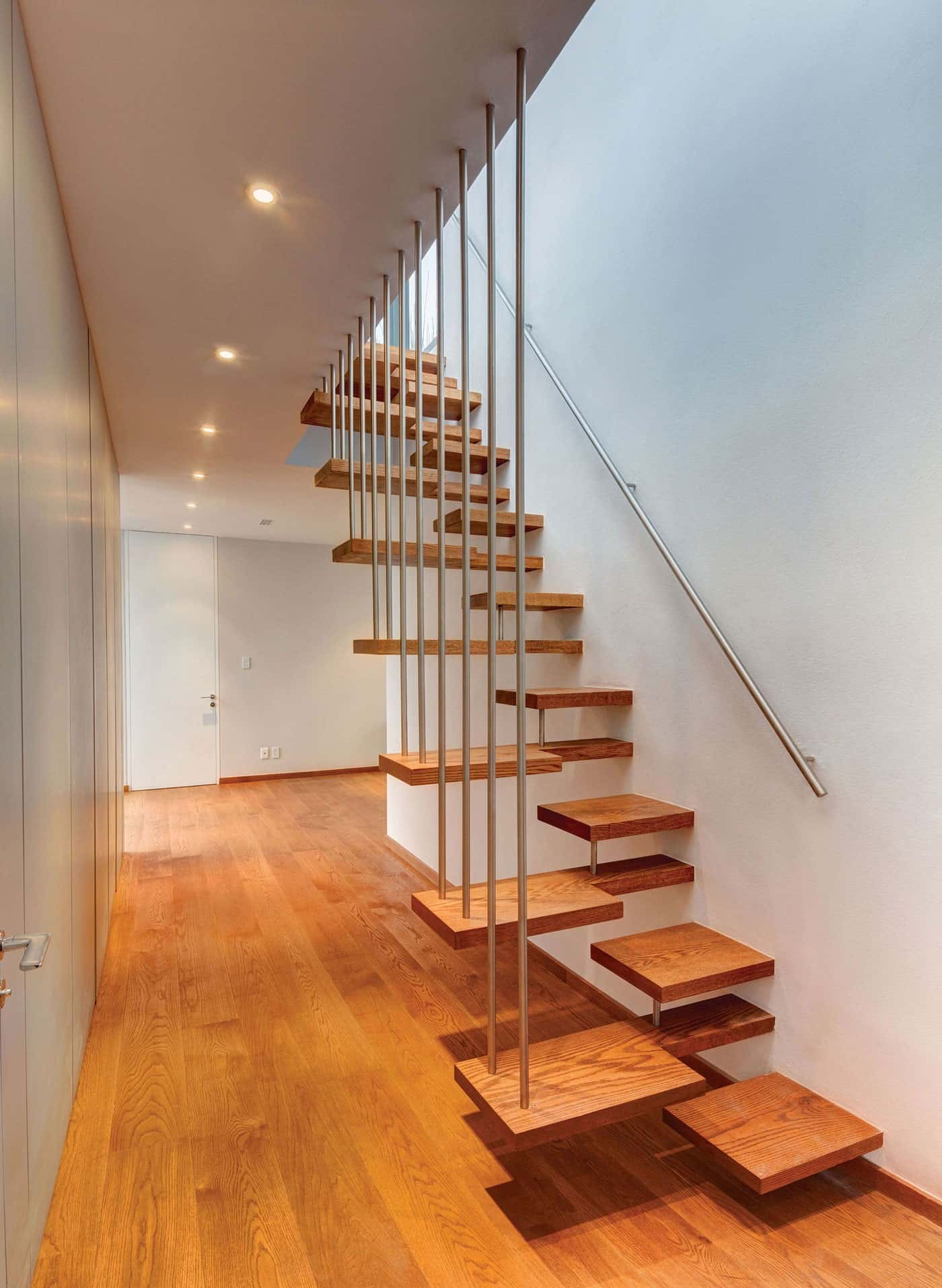 A Floating Wooden Staircase
