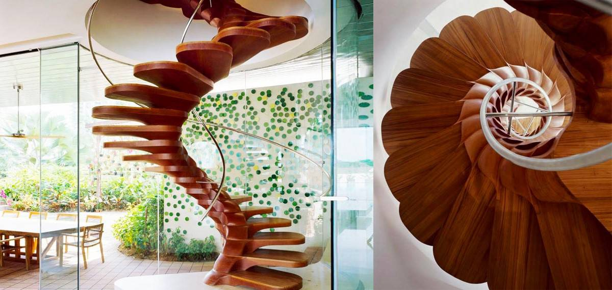 A Flower Petal Staircase