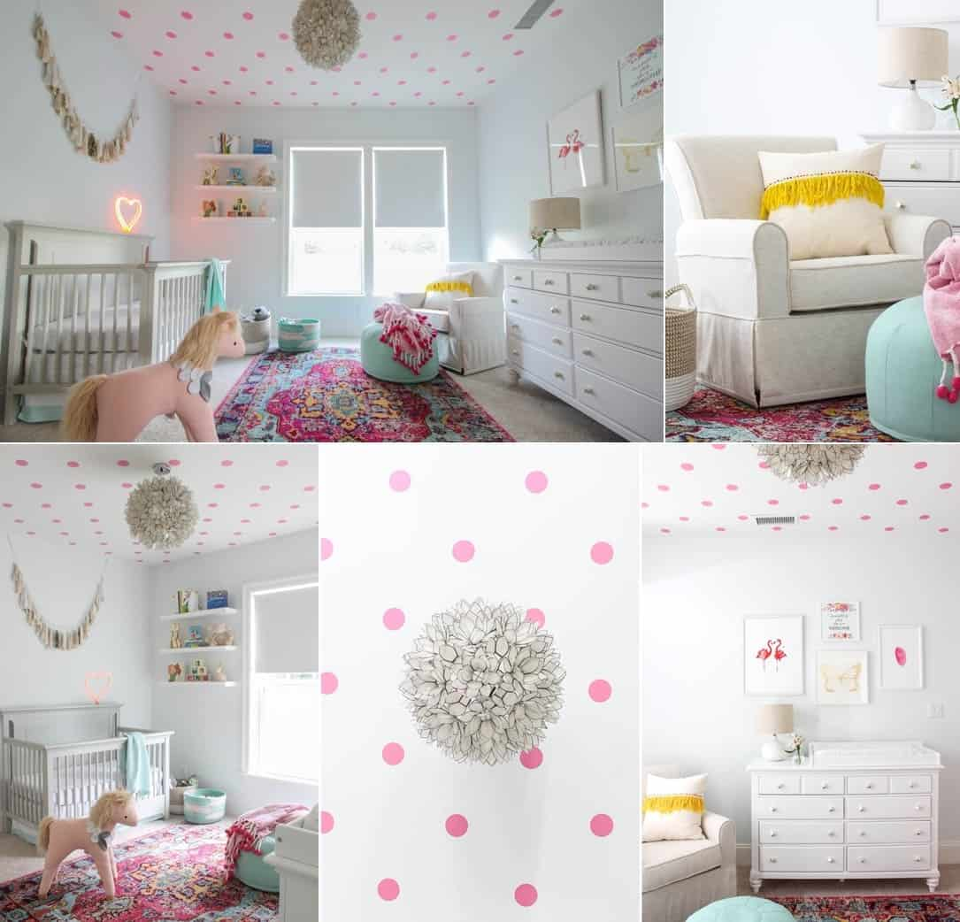 A Baby Girl's Room with Fun Patterns