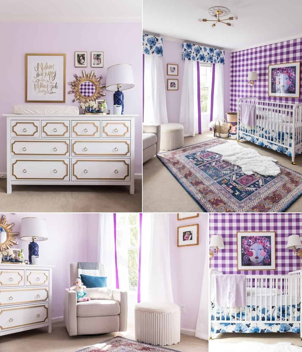 A Baby Girl's Nursery with Bold Patterns