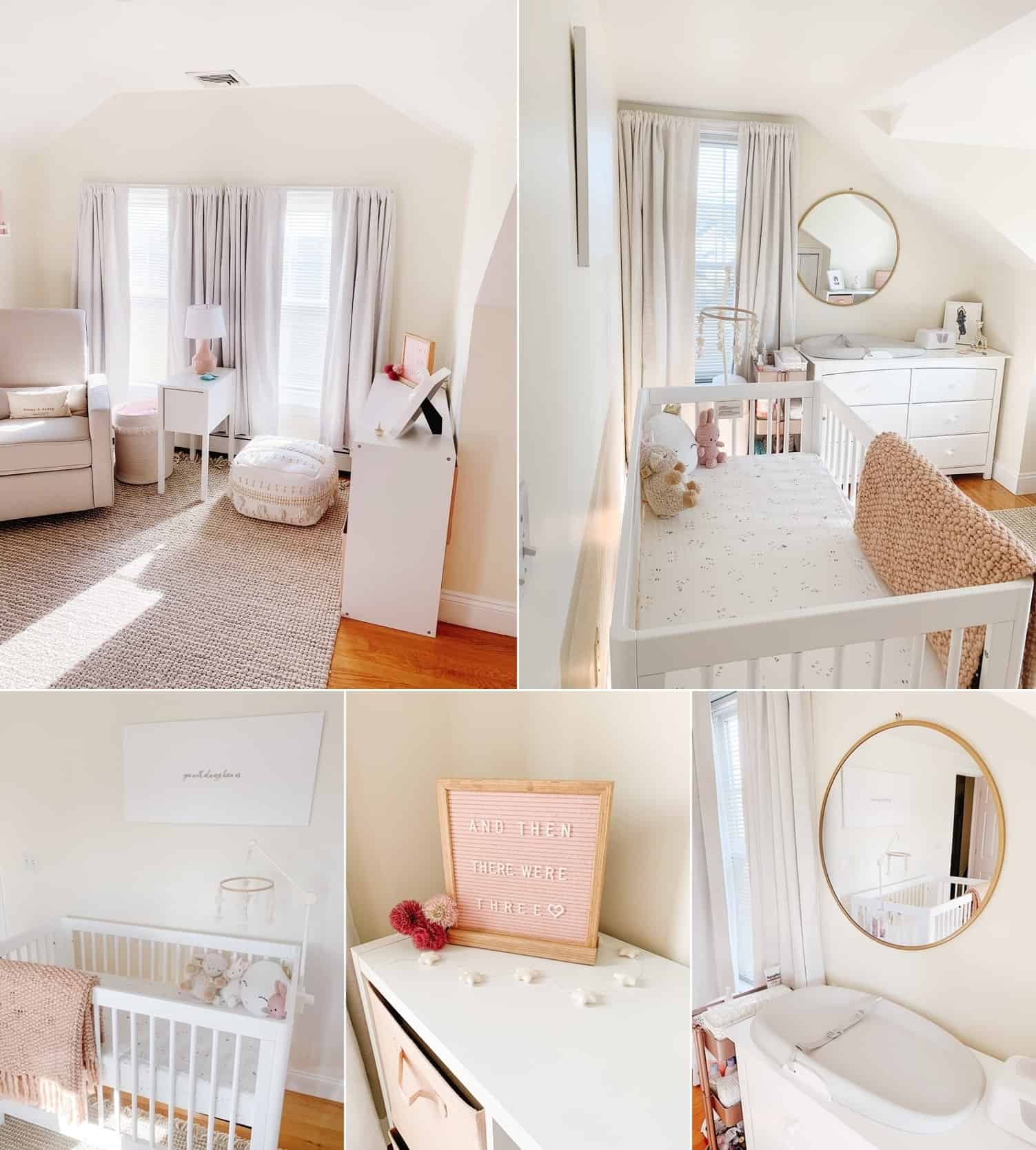 A Neutral Nursery with Hints of Pink