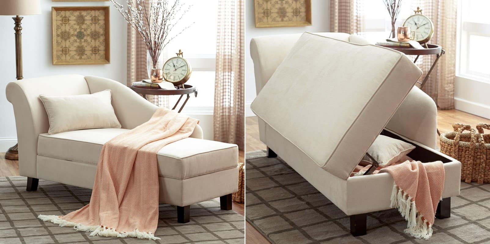 A Solo Chaise Lounge with Storage