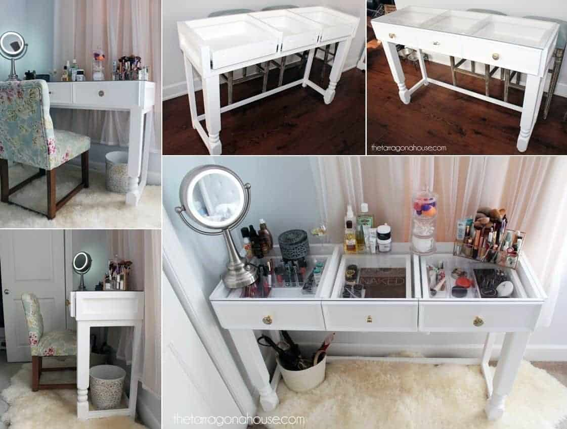 18 Beautiful Diy Vanity Tables Remodel Or Move