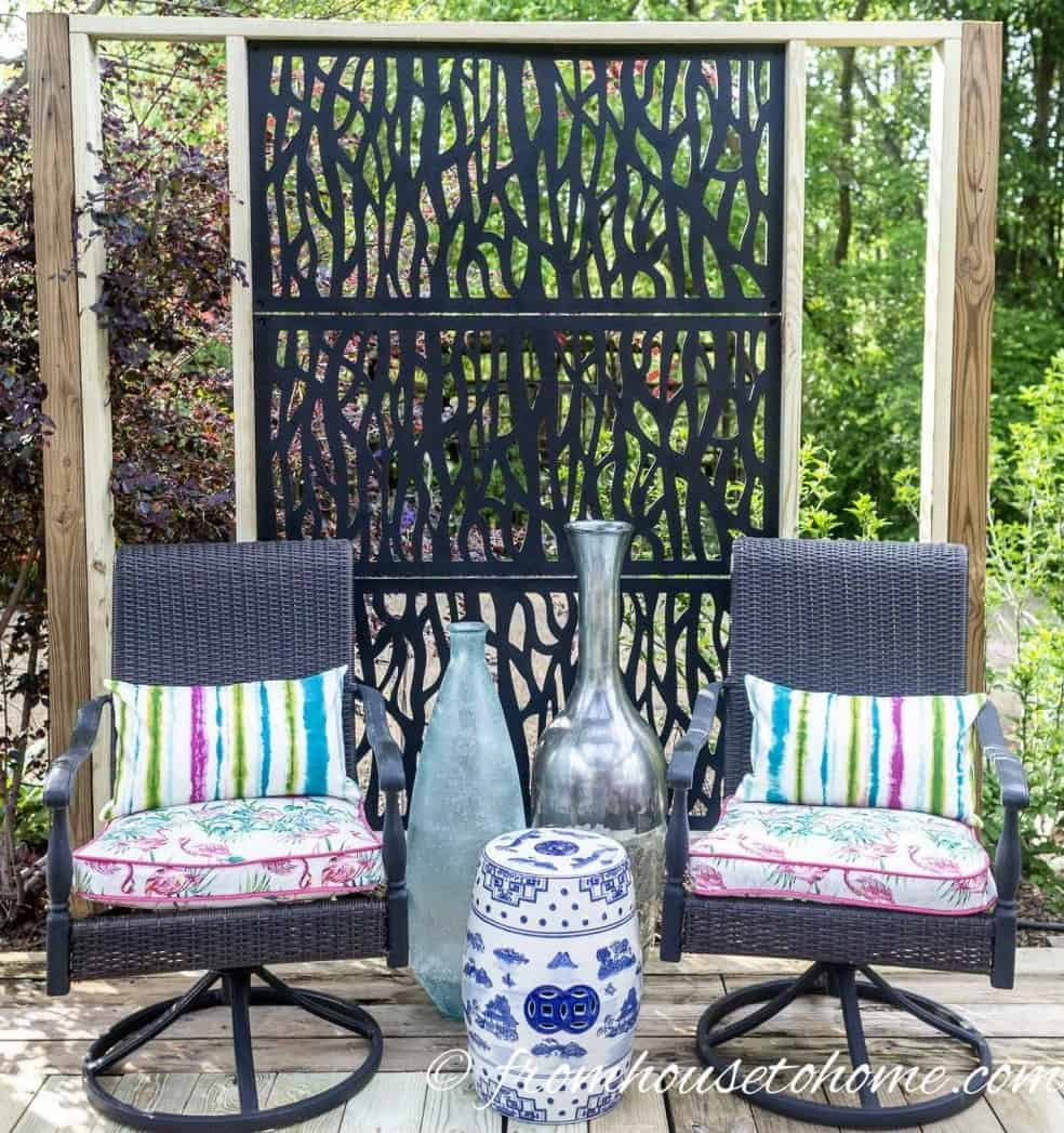 Decorative Outdoor Privacy Screen