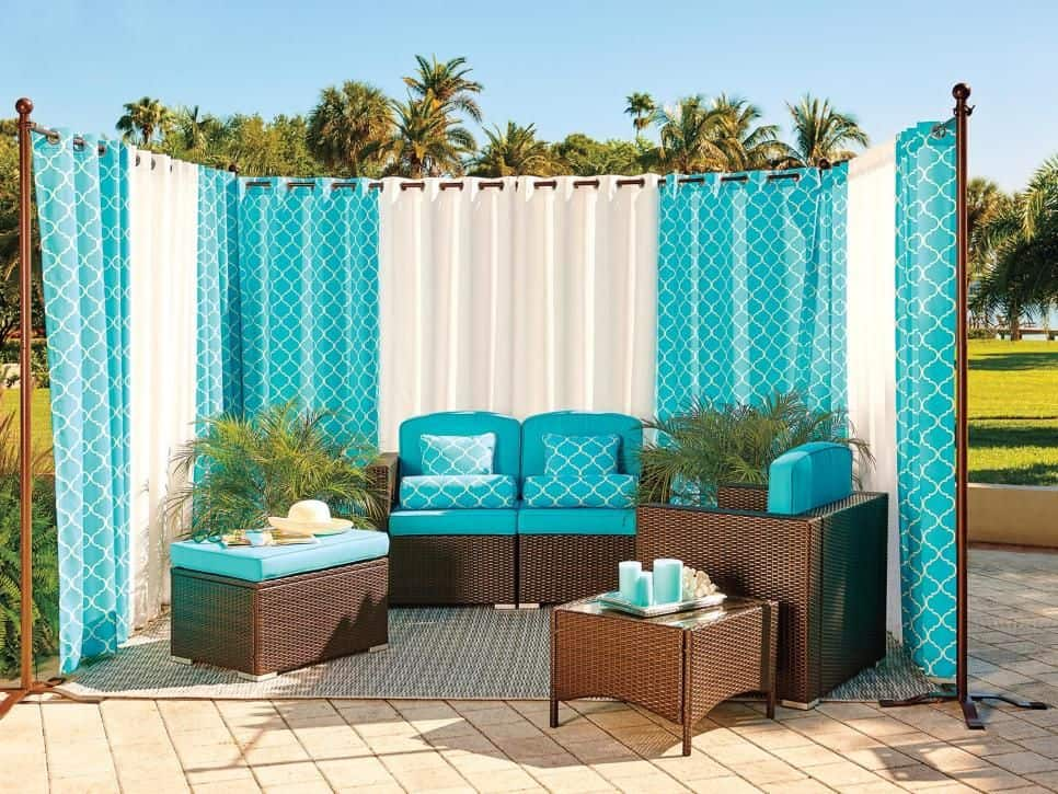 Fabric Porch Outdoor Privacy Screen