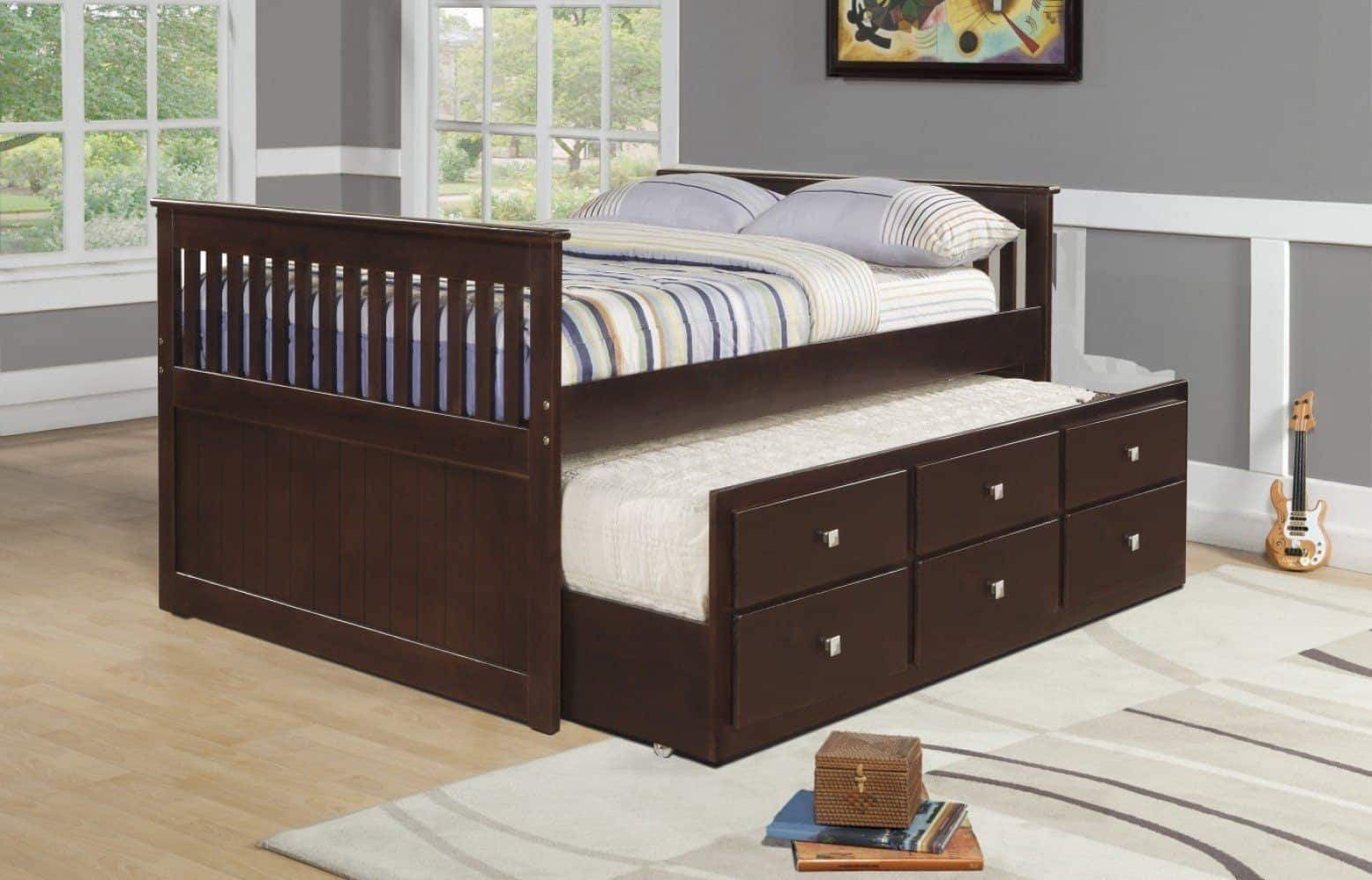 Twin-Sized Captains Bed