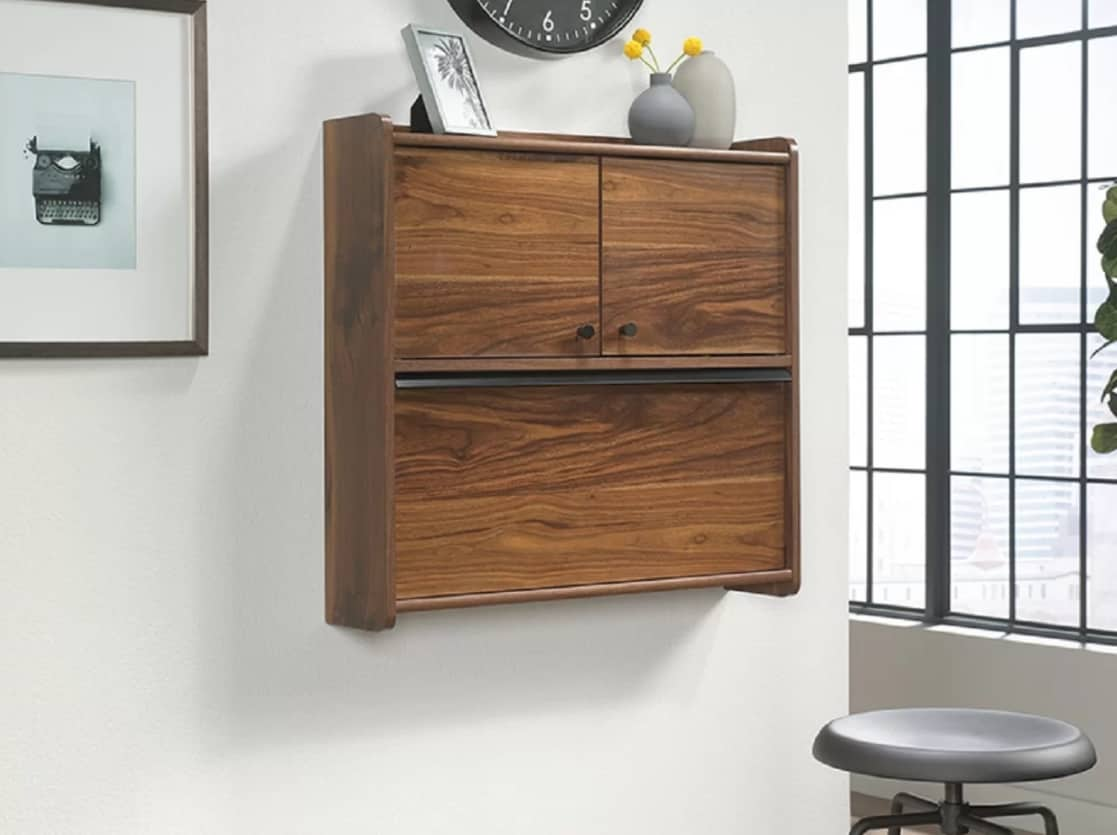 Contemporary wall floating desk