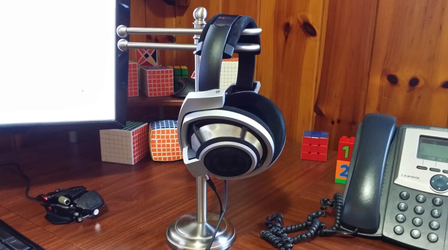 Toilet paper stand headsets