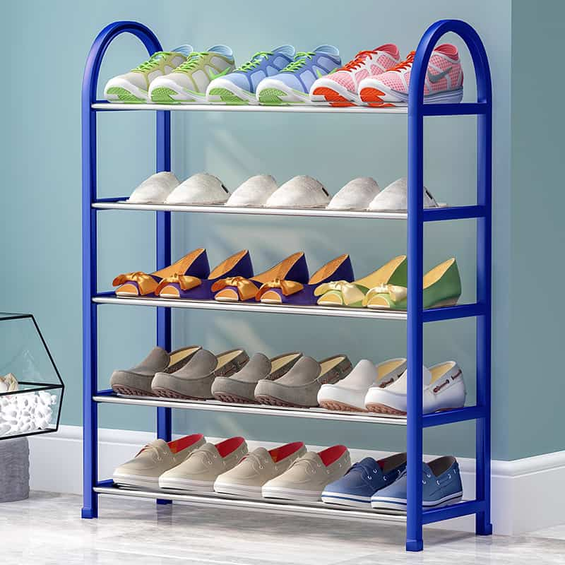 Built-In Galvanized Pipes Shoe Rack