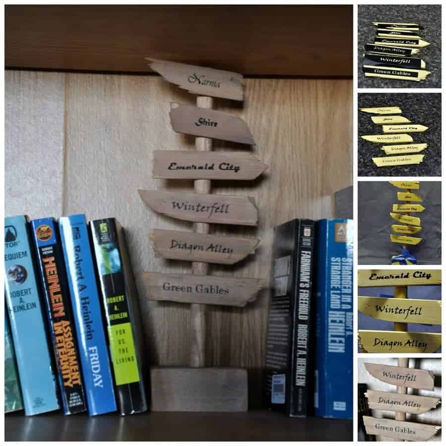 Direction Signs Bookends