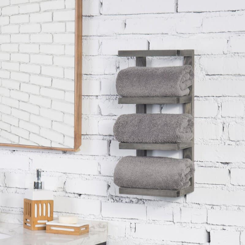 DIY Basket Towel Rack