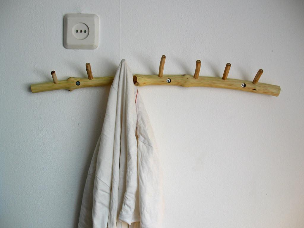 DIY Branch Towel Rack
