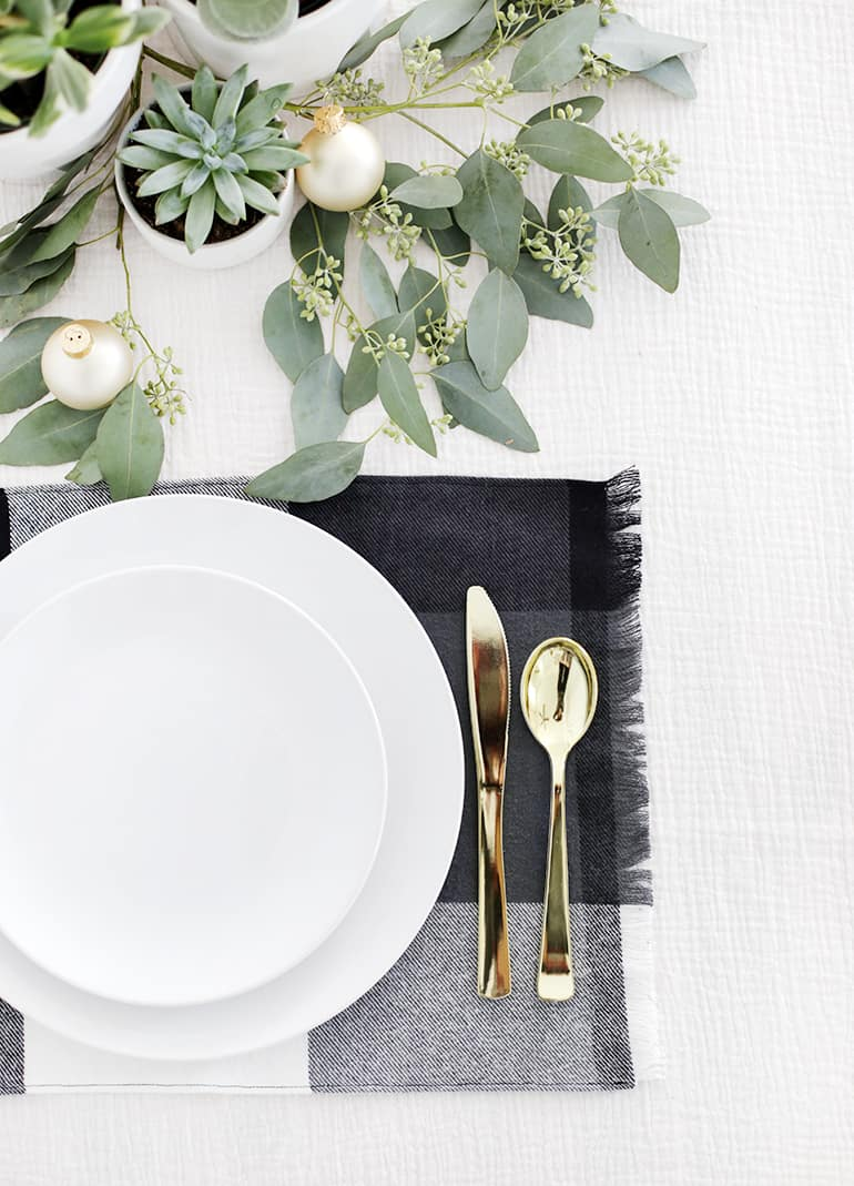 DIY Flannel placemats