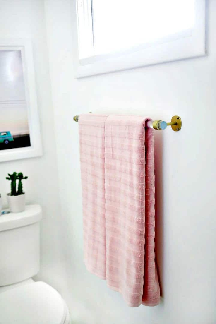 DIY Lucite Towel Bar