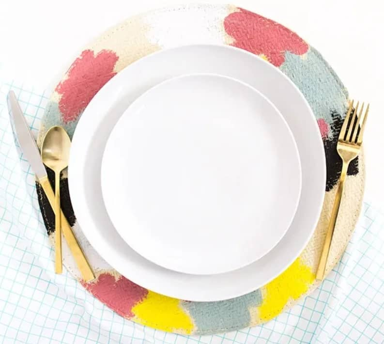 DIY Painted Woven Placemats