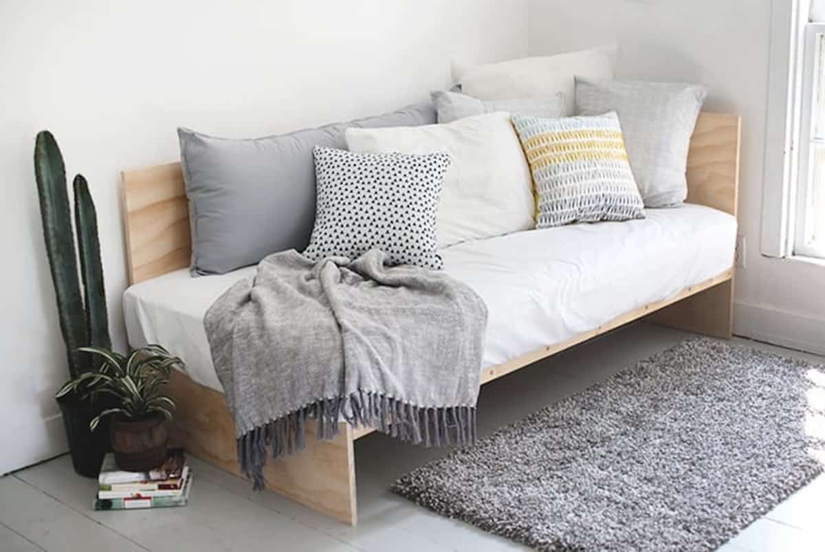 DIY Plywood Daybed Couch