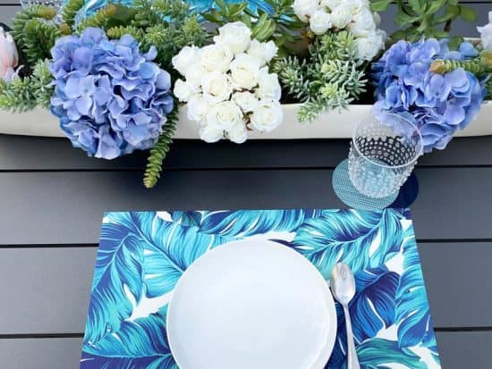 DIY Tropical Placemats