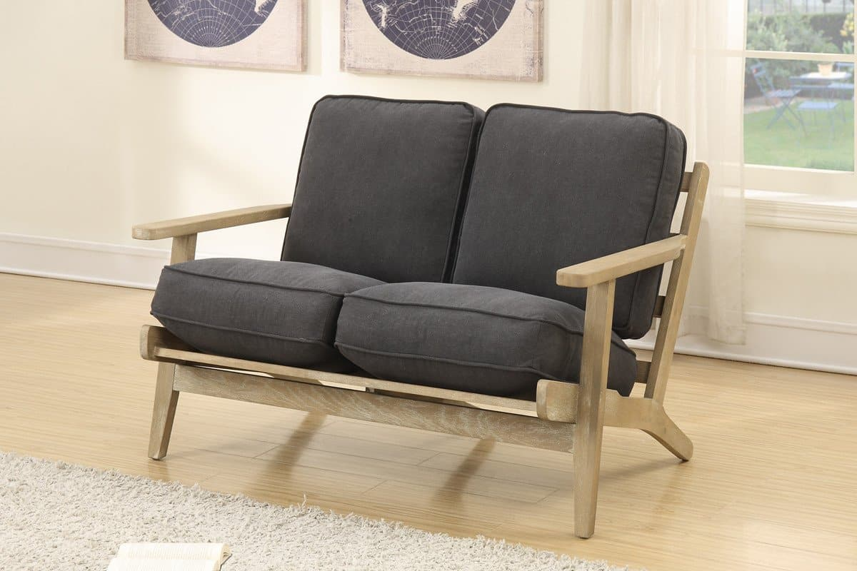DIY Wood Plank Loveseat Couch