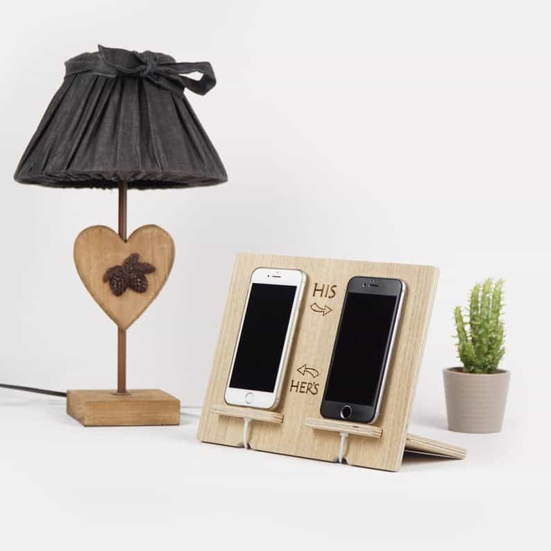 His and Hers Phone Charging Station