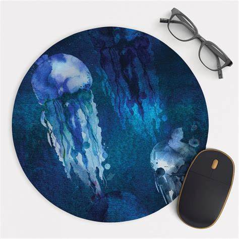 Round Watercolor Mouse Pad