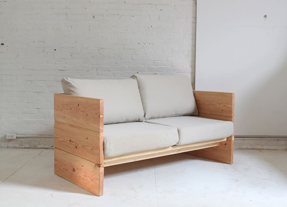 Simple Wood Couch