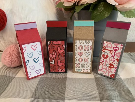 DIY Mini Milk Carton Gift Box
