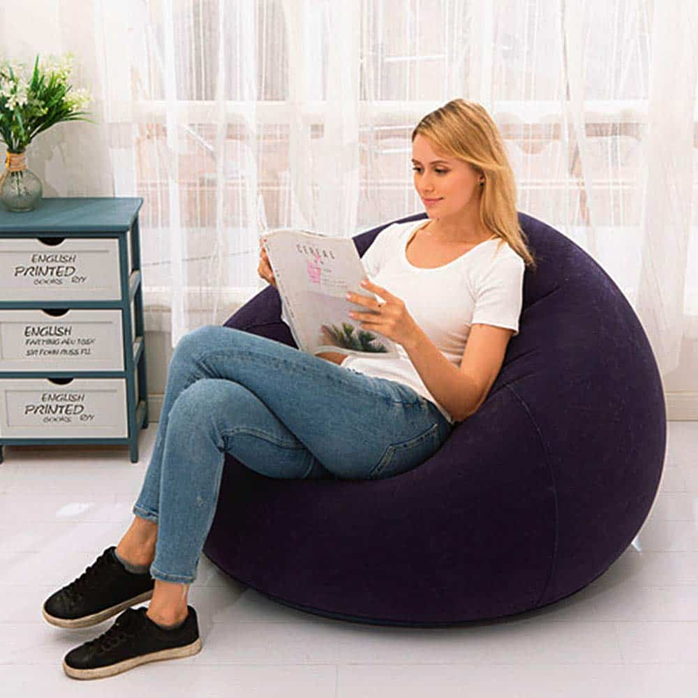 DIY Patched Bean Bag Chair