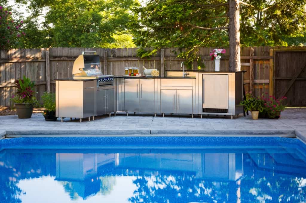 DIY Poolside BBQ Station