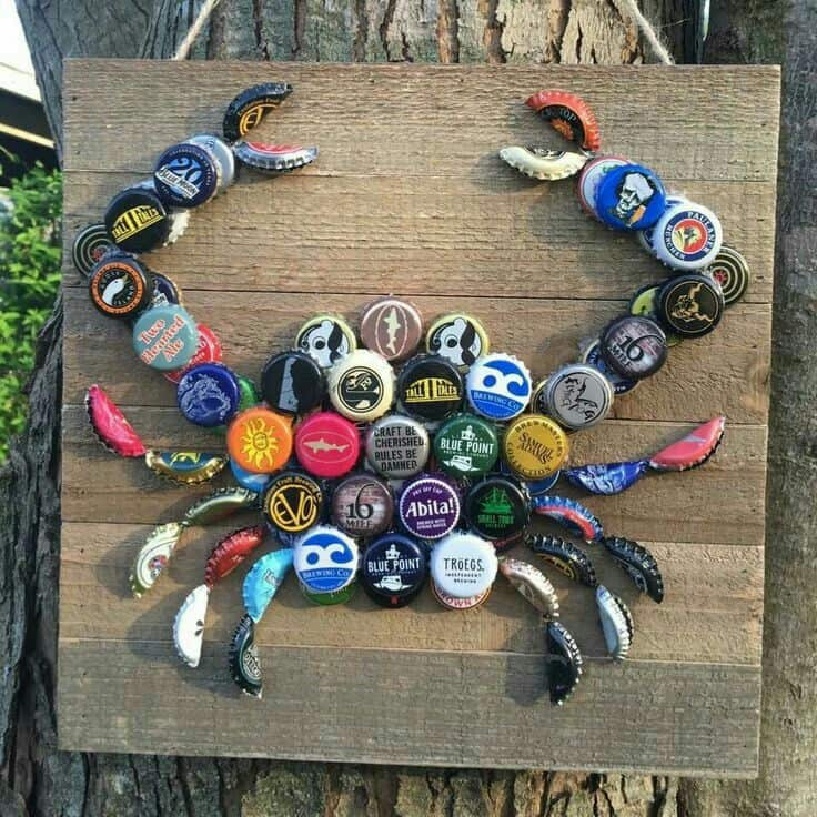 DIY Poolside Bottle tops