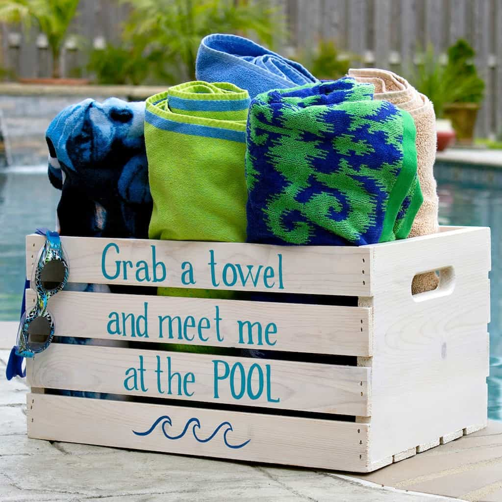 DIY Poolside Crate