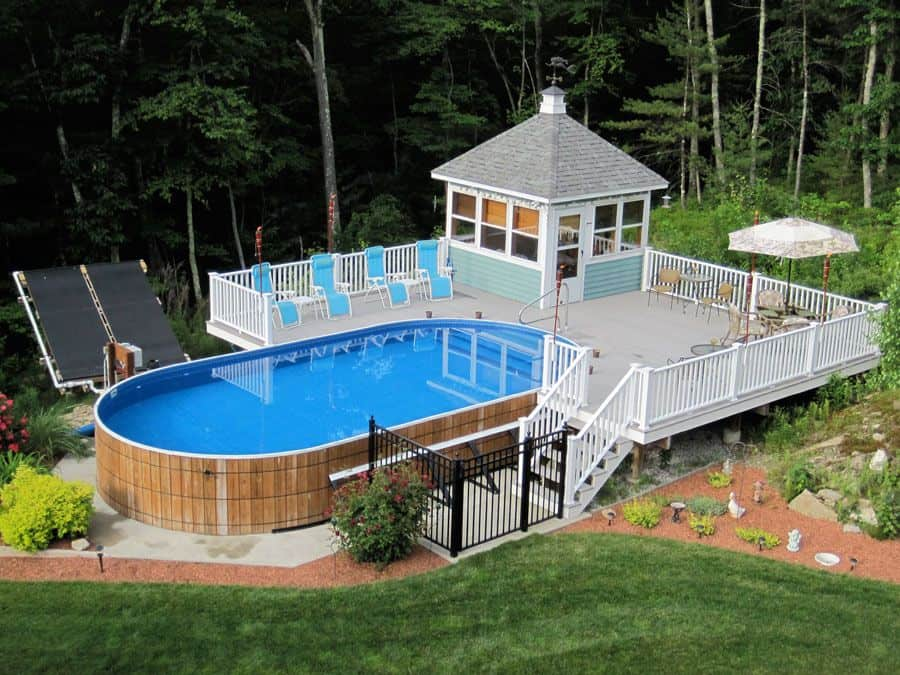 DIY Poolside Deck