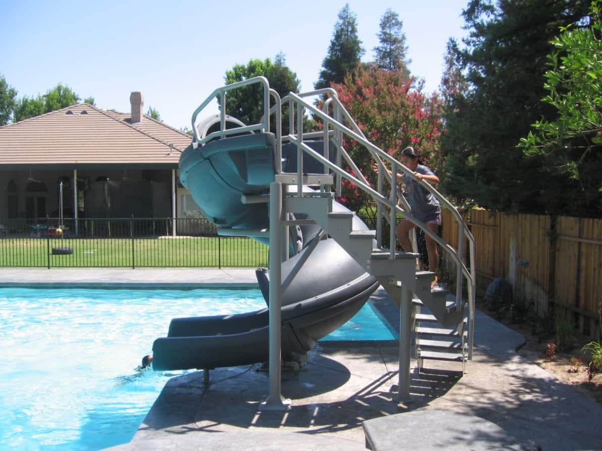 DIY Poolside Pool slide