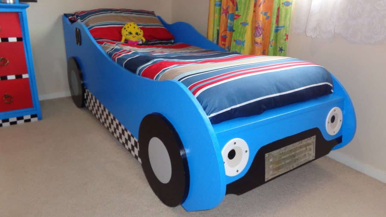 DIY Trucks And Tractor Toddler Bed