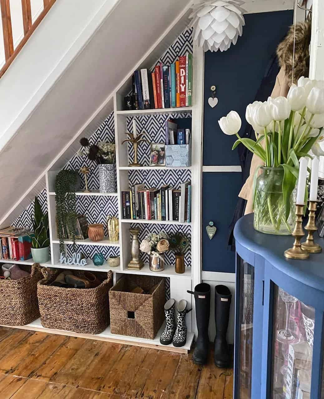 DIY Under the Staircase Pantry Shelves