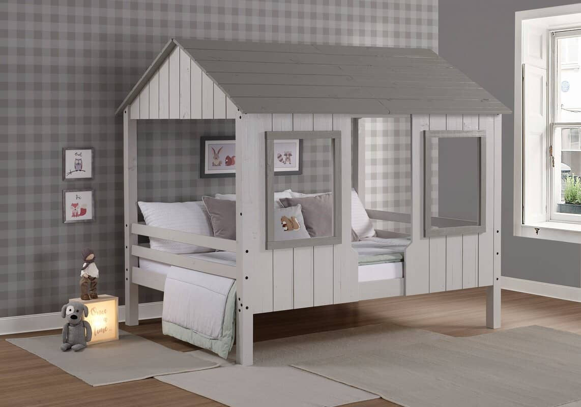 Playhouse Wooden Toddler Loft Bed