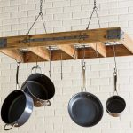 25 DIY Hanging Pot Rack Ideas That Prevent Kitchen Clutter