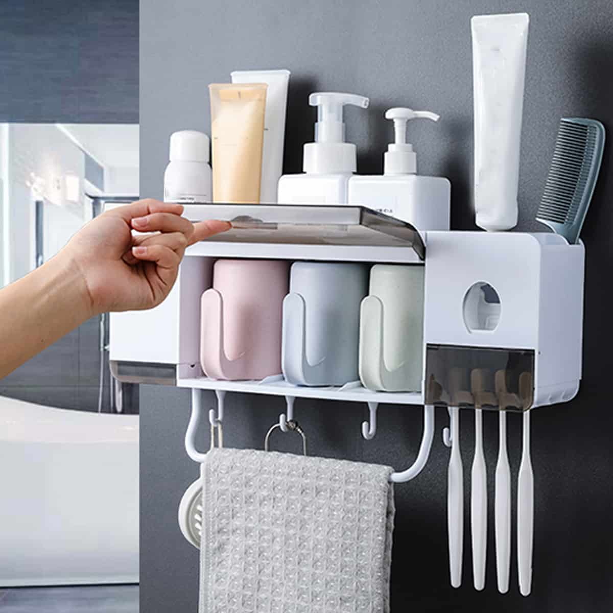 DIY Towel and Toothbrush Holder