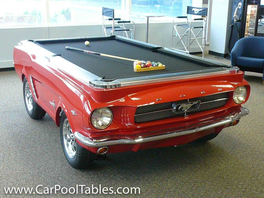 DIY Upcycled Car Pool Table