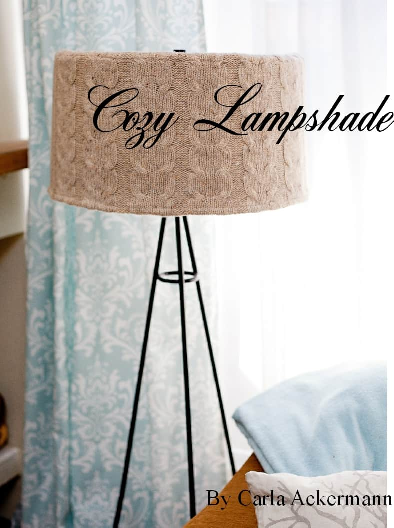 DIY Upcycled Sweater Floor Lamp