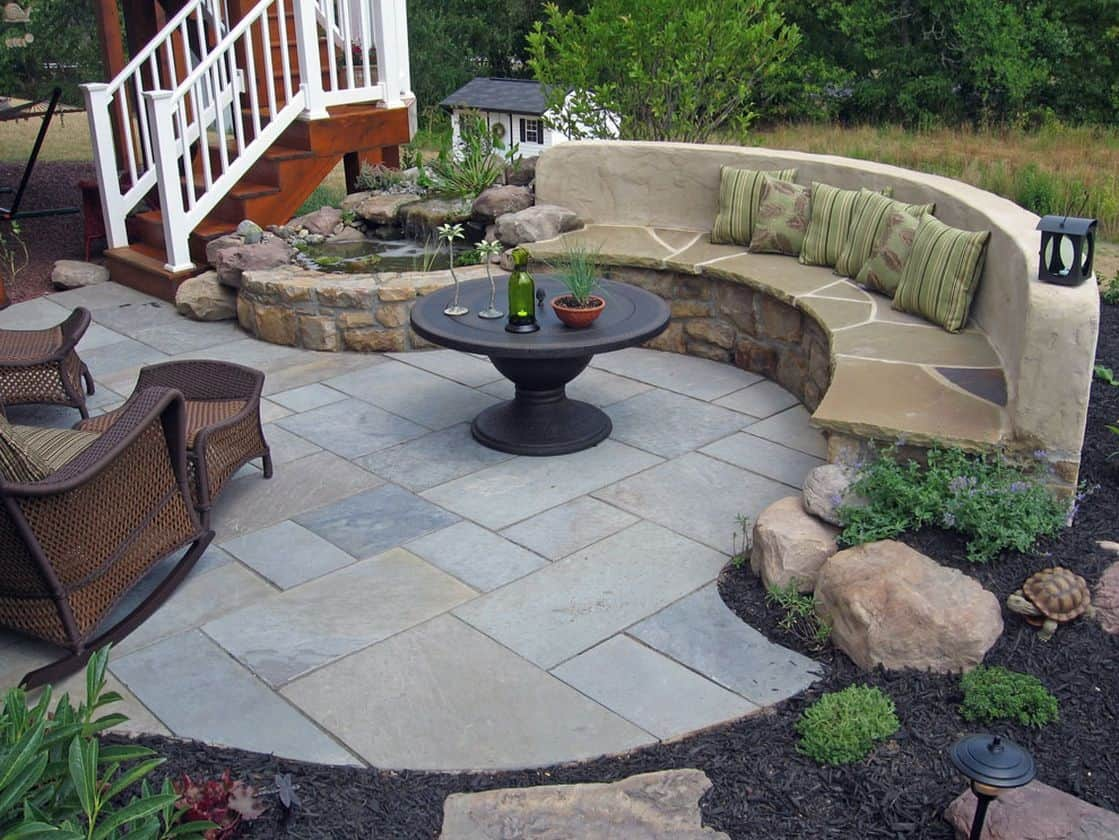 DIY Flagstone Patio and Path in One
